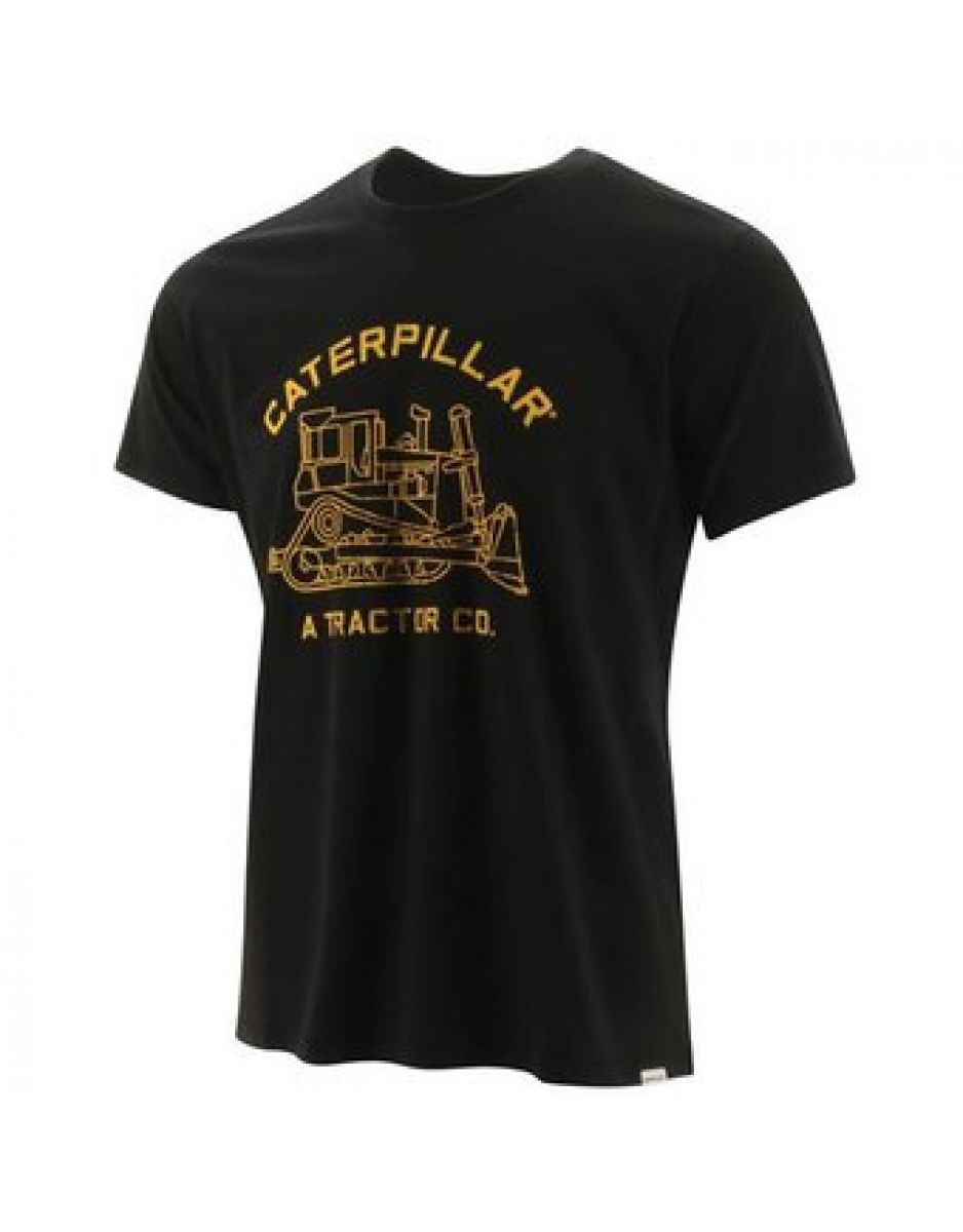 REMERA DE ALGODON CATERPILLAR NEGRO (2511294)
